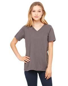 - Bella + Canvas Missy'S Relaxed Jersey Short-Sleeve V-Neck T-Shirt (6405)- Asphalt,X-Large
