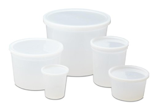 Medline DYND34255 Pathology Containers with Lid, Polyethylene, Non-Sterile, Latex Free, 8 Ounce Capacity (Pack of ()