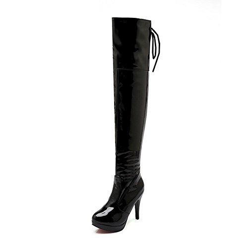 1TO9 Ladies Bandage Platform Stiletto Imitated Leather Boots