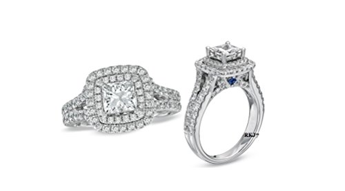wedding rings white gold diamond - 9