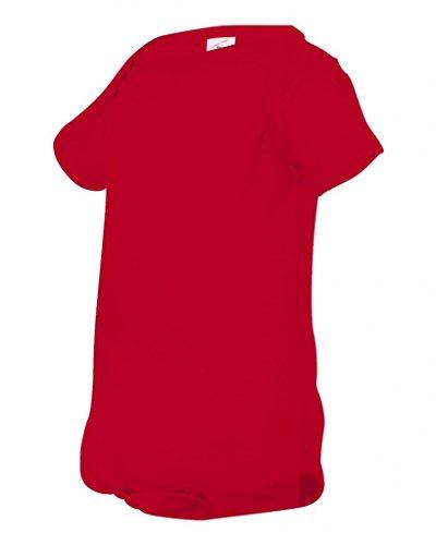 (Rabbit Skins Infant Fine Cotton Jersey Lap-Shoulder Bodysuit - Red - 12M)