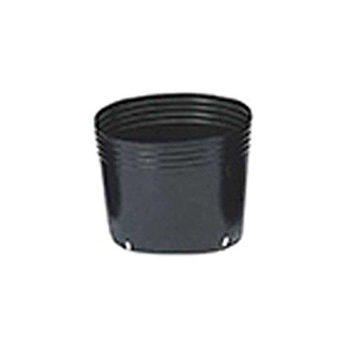 【1000個】 24.0cm 黒 TO浅鉢安定型ポット(UAタイプ) ポリポット 東海化成 タ種 代不 B06Y5NWYFS