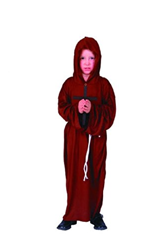 Priest Or Monk Wig (OvedcRay Monk Child Costume Robe Religious Biblical Catholic Priest Boy Costumes)