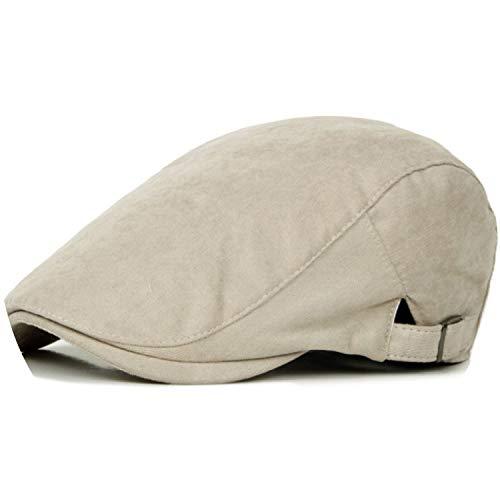Spring Sun Hats for Men Classic Western Newsboy Caps Woman Cotton Blend Ivy Caps Flat,Beige,