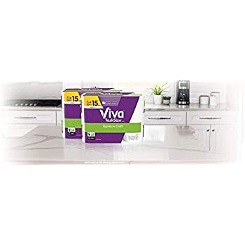 Viva Signature Cloth TaskSize Paper Towels, Soft & Strong Kitchen Paper  Towels, White, 12 Family Rolls (143