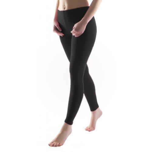 Bunte Mädchen Leggings lang aus Baumwolle Kinder Leggins in verschiedenen Farben, Farbe: Schwarz, Größe: 152-158