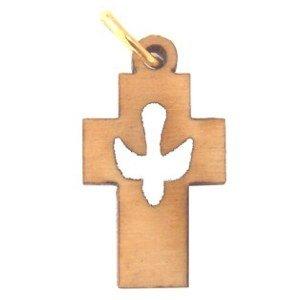 Holy Spirit Olive wood Dove Cross Laser(6cm or 2.36
