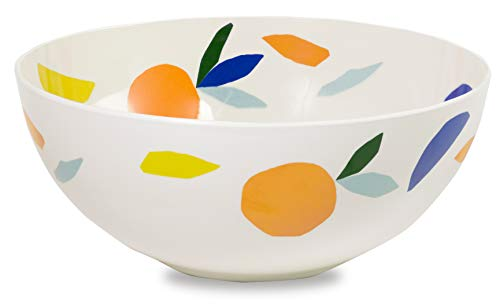 - Kate Spade New York Women's Melamine Serving Bowl, Dishwasher Safe, Citrus Twist