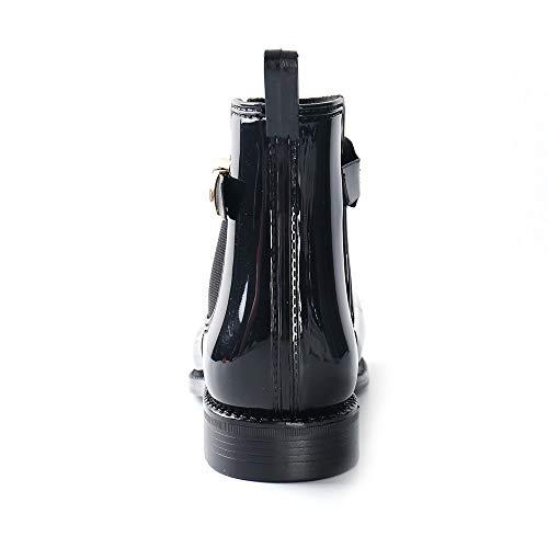 Femmes Leroy Chunks Bottes Bottines Noir Bloc Talons À La Dames 3 On Imperméables Cheville De Chelsea Alexis Slip Pluie q5CEwxdq7