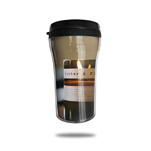 Cups Printed Votive - FTRGRAFE Amber Glass Votive Candle Travel Coffee Mug 3D Printed Portable Vacuum Cup,Insulated Tea Cup Water Bottle Tumblers for Drinking with Lid 8.54 Oz (250 Ml)
