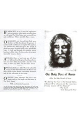 The Holy Face of Jesus Prayercard (Pack of 100) ()
