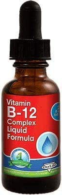 Sublingual Vitamin B12 Liquid Complex Vegan, Non GMO
