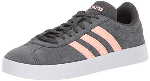 (adidas Women's VL Court 2.0 Sneaker, Grey/Glow Pink/White, 11 M US)
