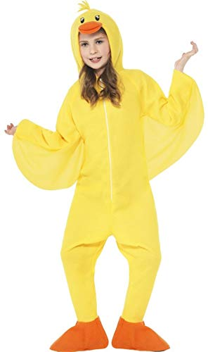 Girls Boys Yellow Duck Animal Bird Book Day Character Ugly Duckling Fancy Dress Costume Outfit (10-12 Years)