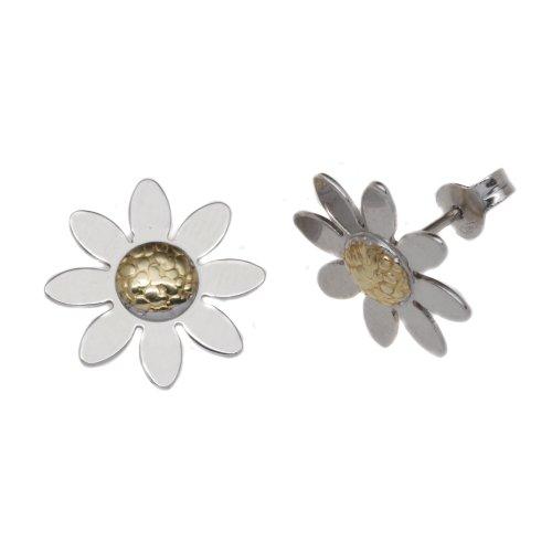 Boucles d'oreille Femme - E-10125 - Or (9 cts) de Bicolore 1.4 Gr