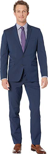 Kenneth Cole Unlisted Men's 2 Button Slim Fit Suit with Hemmed Pant, New Navy 40 ()