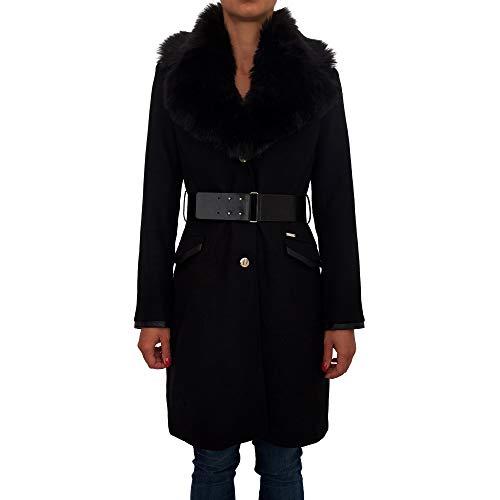 Pelo Abrigo Guess Rosemary Cuello Nero Negro Largo IPIwqgO