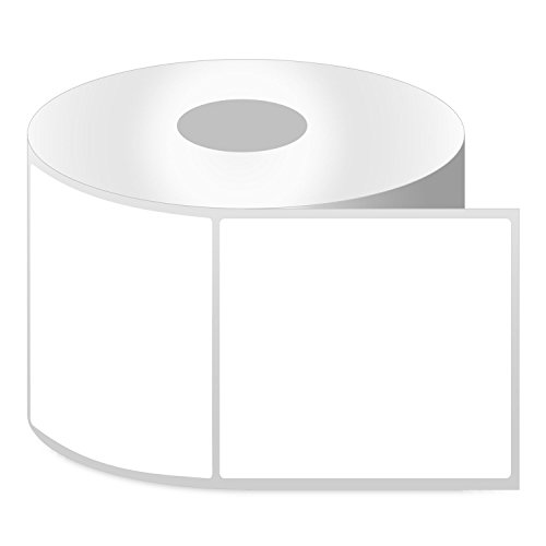 OfficeSmart Labels ZR1100100-1 x 1 Inch Removable Direct Thermal Labels, Compatible with Zebra Printers (4 Rolls, White, 1380 Labels Per Roll