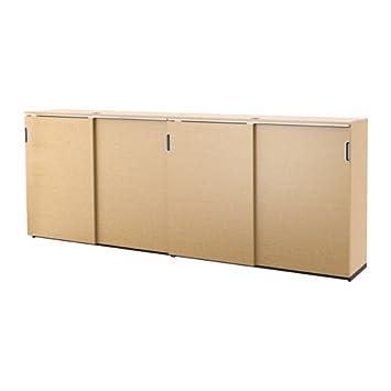 Ikea Storage Combination With Sliding Doors, Birch Veneer 126x47 1/4 U0026quot;,