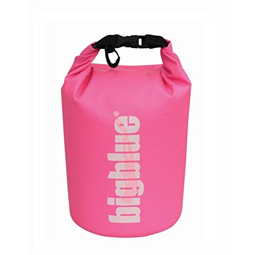 BigBlue Dive Lights Dry Bag with Buckle - 3 Liter, 5 Liter, 7 Liter (Pink, 7 Liter)