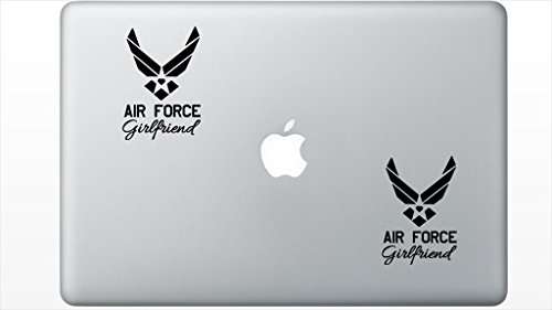 Air Force Girlfriend HenryDecal5551141 Set Of Two (2x) , Decal , Sticker , Laptop , Ipad , Car , (Air Force Ipad)