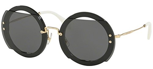 Miu Miu Women's Reveal Sunglasses, Black/Grey, One Size (Miu Miu Black Sunglasses)