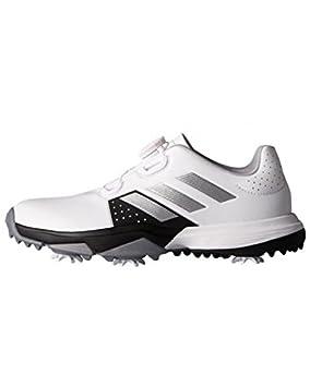 best cheap f4058 cf2fd adidas Jr. Adipower Boa Zapatos de Golf, Niños, Blanco Plata Negro, 37.3   Amazon.es  Deportes y aire libre