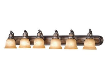 Vaxcel LS-VLD106PZ Lasalle 6 Light Vanity Light, Parisian Bronze Finish