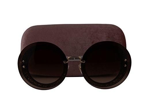 Miu Miu MU10RS Sunglasses Transparent Grey w/Brown Gradient Lens UES6S1 SMU 10R SMU10R MU - Sunglasses 2018 Miu Miu