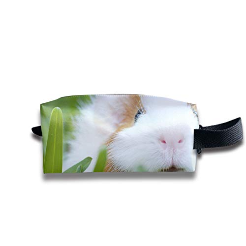 V5DGFJH.B Clash Durable Zipper Wallet Makeup Handbag with Wrist Band Rabbit Bunny with Small Eyes Toiletry Bag]()