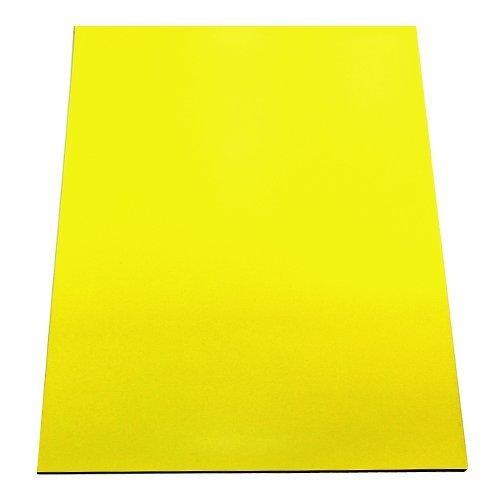 MAGNET Expert Ltd - Foglio magnetico flessibile, 297 x 210 x 0,85 mm, formato A4, per applicazioni artistiche, colore giallo F4MA4Y-1-AMZ