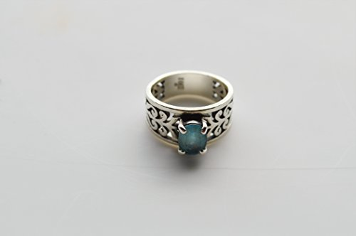 James Avery Sterling Silver Adoree Ring With Blue Topaz   Ring Size 5
