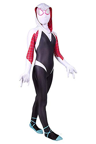 RELILOLI Spiderman Costume for Kids Unisex Size (Kids-L(120-130cm), Gwen Stacy)]()