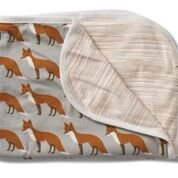 Cheap Milkbarn Organic Cotton Stroller Blanket – Orange Fox