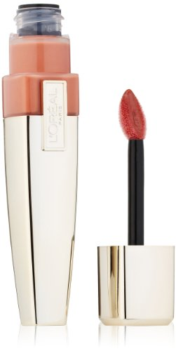 L'Oreal Paris Colour Caresse Wet Shine Lip Stain, Eternally Nude, 0.21 Ounces ()