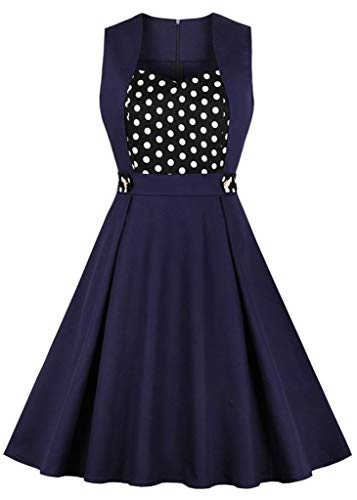 - Nihsatin Women's Sweetheart Polka Dots Swing Dress 1950S Rockabilly Party Prom Wedding Dress