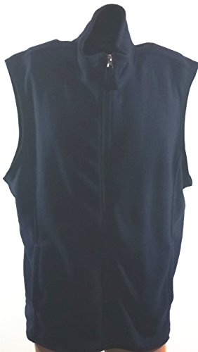 Club Room Full Zip Polar Fleece Sweater Vest Navy Blue, XLarge