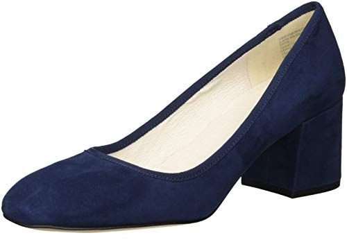 Sandals Kenneth Cole Suede (Kenneth Cole New York Women's Eryn Low Heel Square Toe Dress Pump, Navy Suede, 7.5 M US)