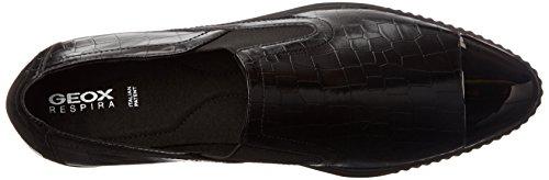 Geox D Amalthia B, Zapatillas para Mujer Schwarz (BLACKC9999)