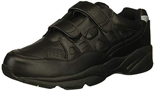 Propet Men's Stability Walker Strap Walking Shoe, Black, 10.5 M US