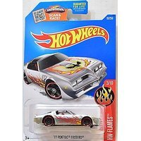 Hot Wheels 2016 HW Flames '77 Pontiac Firebird 93/250, Exclusive (Walmart Hot Wheels Track)
