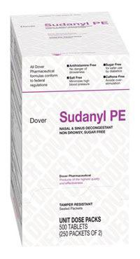 Sudanyl PE Tab Decongestant Oral 250x2/Bx Made by Medique Pharmaceuticals (Oral Decongestant)
