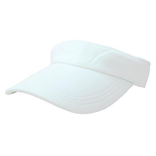 - Lydia Fashion Women's Mesh Velcro Closure Adjustable Sun Visor Tennis Hat /Various Color (White)