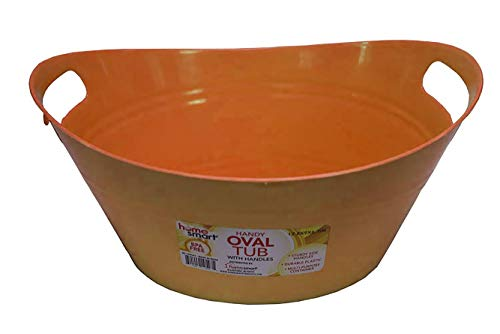 Oval plastic storage tubs with handle - Small size: (12.8