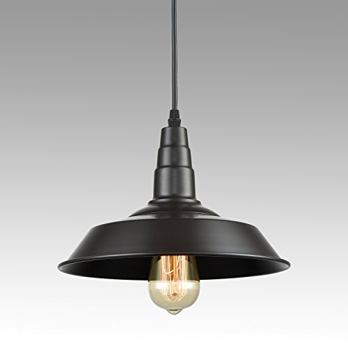 Axiland Farmhouse Industrial Lighting Fixture Plug In Pendant Metal Hanging Lights