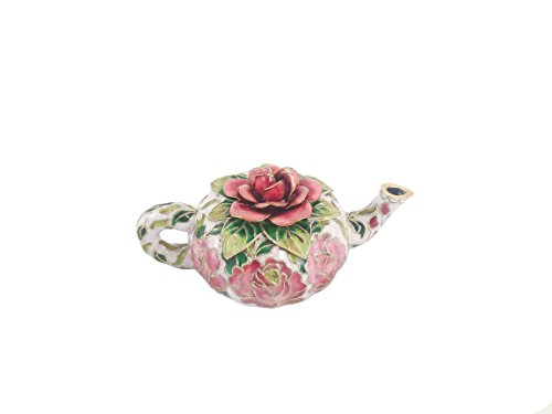 Museum Collections Cloisonne Rose Tea Pot