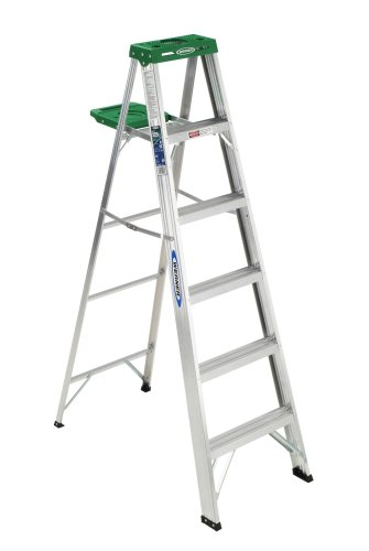 Werner 356 225-Pound Duty Rating Aluminum Stepladder, 6-Foot by Werner