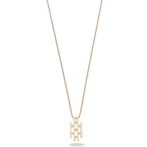 9ct or jaune 0.23CT Diamond Drop Collier Pendentif avec chaîne 45,7cm/45cm