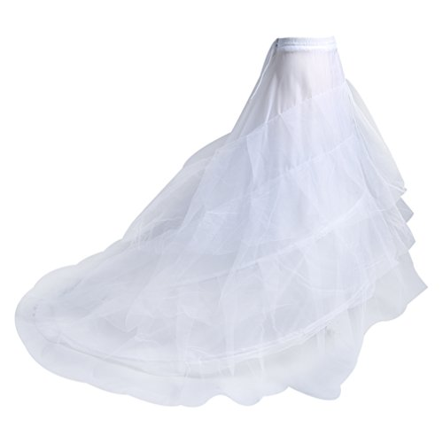 Make you perfect Mermaid Petticoat Crinoline Underskirt 3 Layers 2 Hoops Trumpet Crinoline Slip with Train¡ by Make you perfect