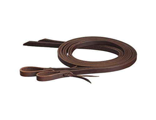 Tough-1 Premium Harness 5/8in x 8ft Split Reins (Water Loop Split Reins)